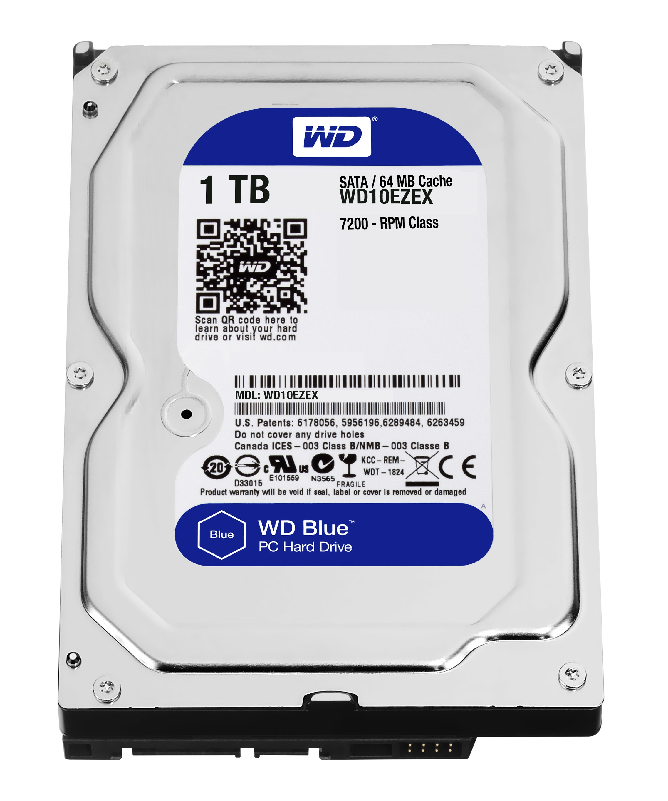 HD W.DIGITAL WD10EZEX 1TB 64MB 3.5 SATA