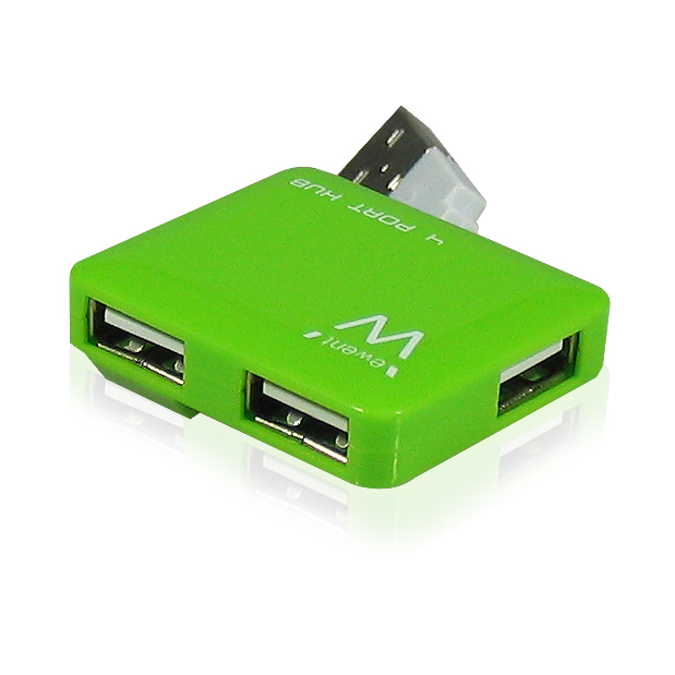 MINI HUB USB 2.0 EWENT 4P GREEN