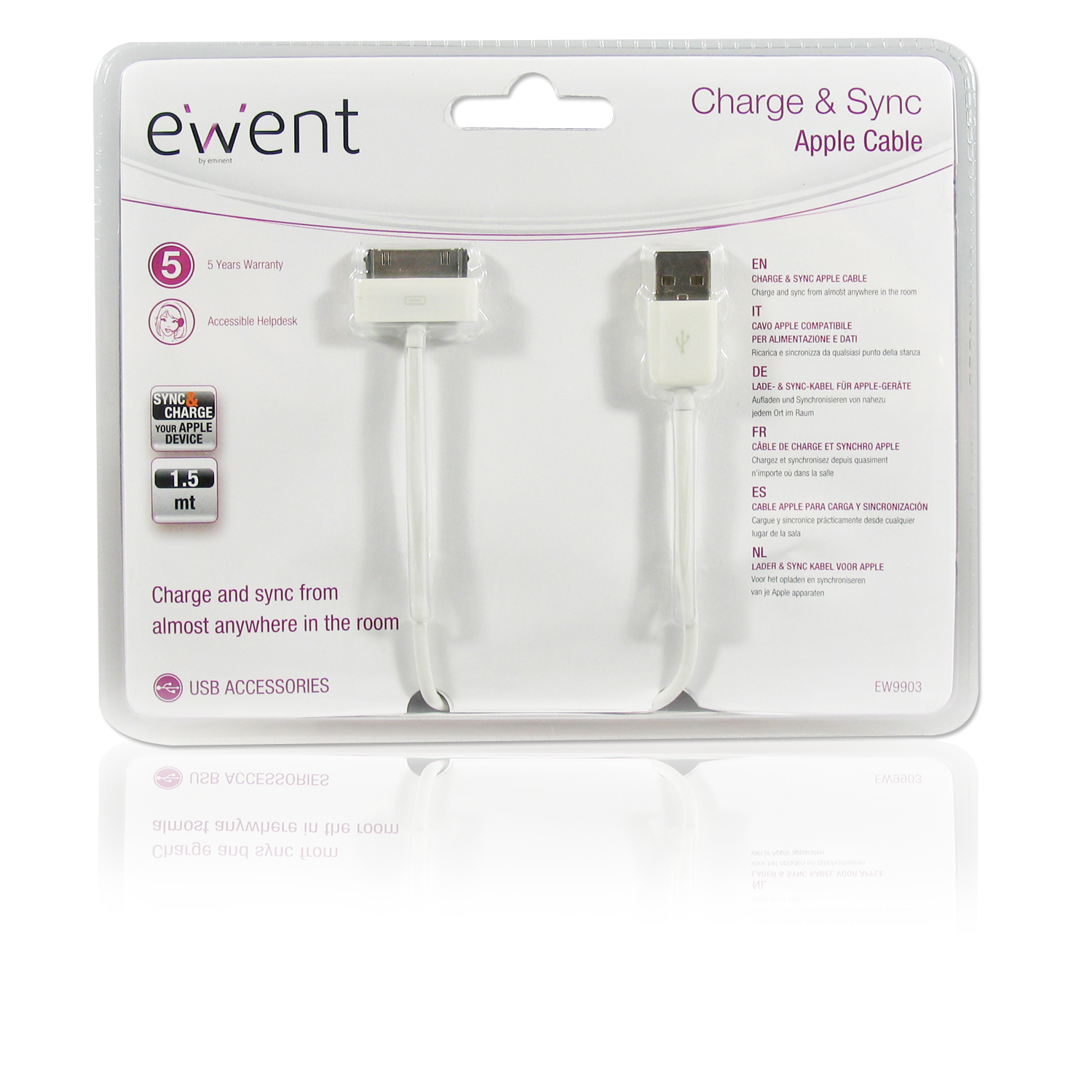 CAVO EWENT IPHONE 4 2.1A 1MT