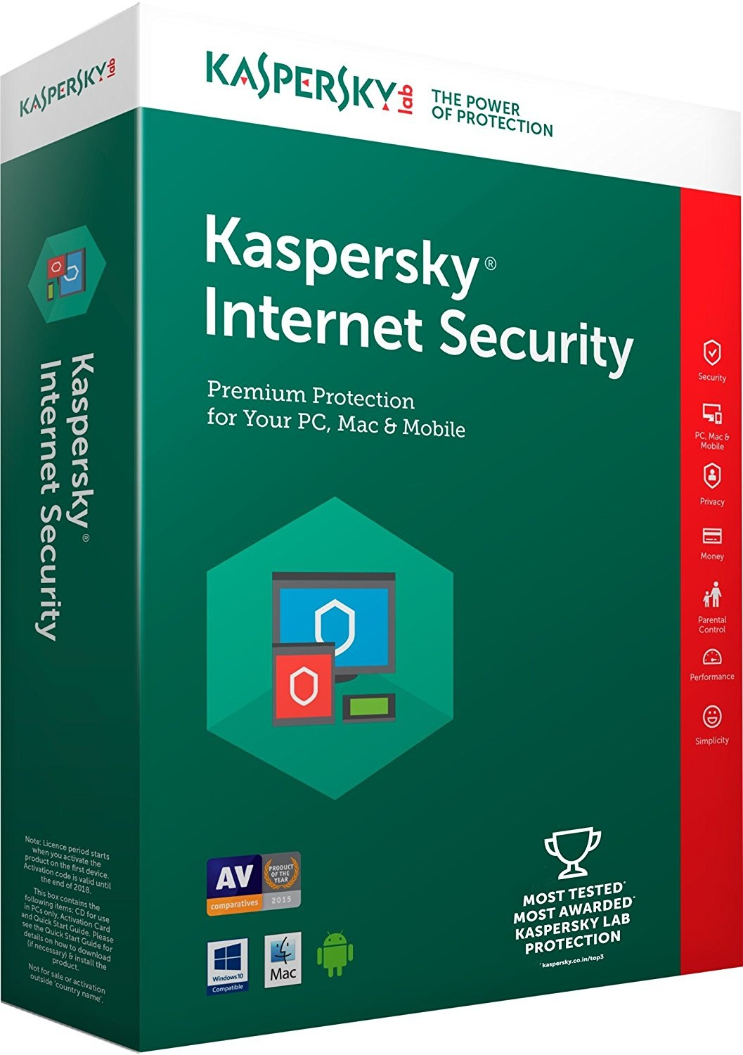 KASPERSKY INTERNET SECURITY 2018 1PC