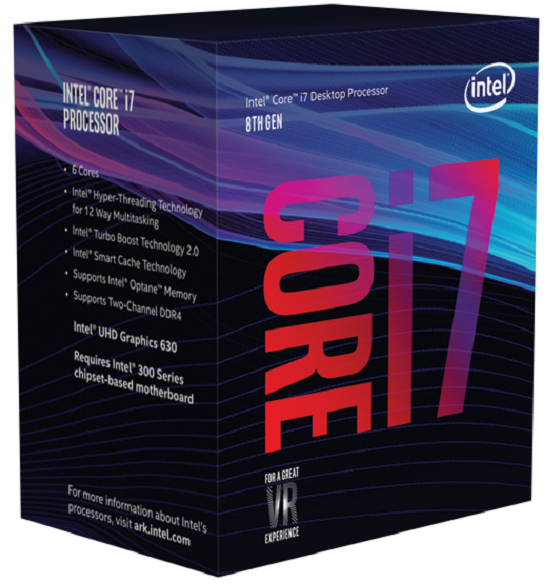 CPU INTEL I7-8700 3.2Ghz 12MB SK1151 BOX