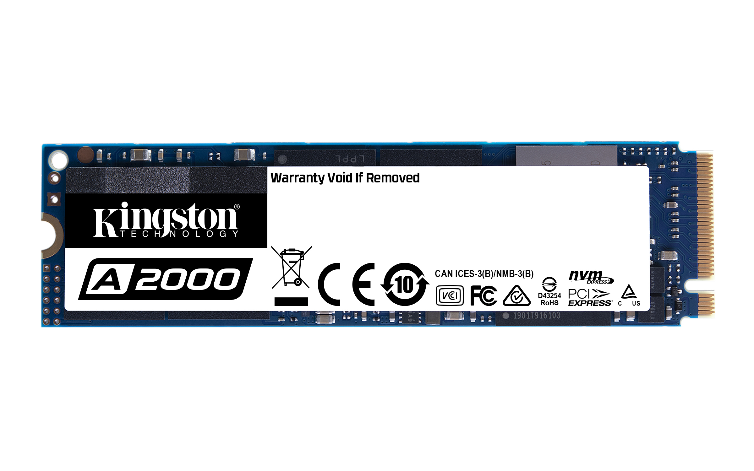 KINGSTON SSD A2000 1TB M.2 PCIe NVMe Gen 3.0