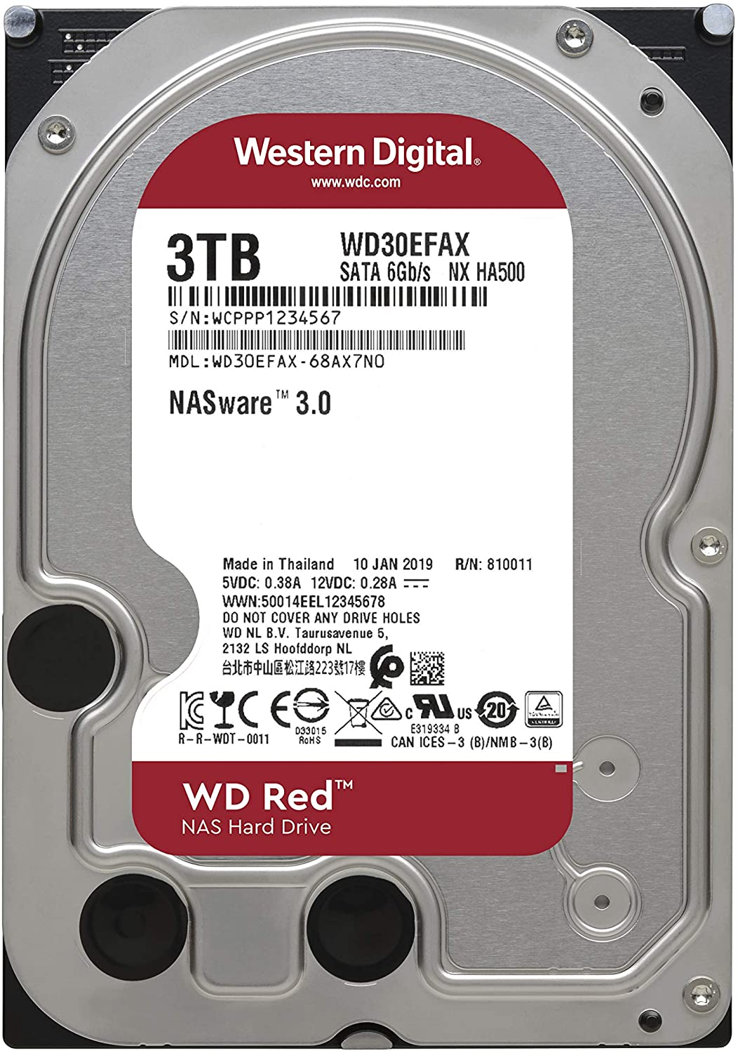 HD W.DIGITAL WD30EFAX 3TB 256MB 3.5 SATA