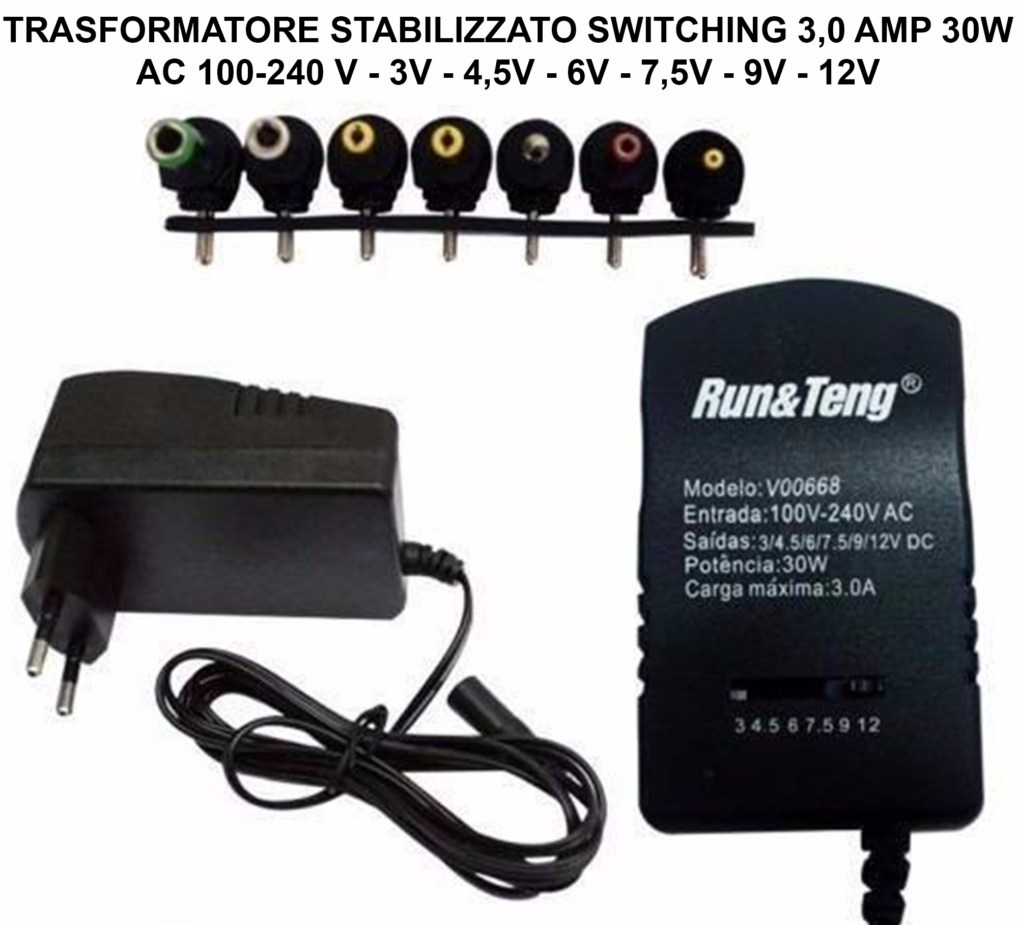 ALIMENTATORE SWITCHING 30W VARIE CONNESSIONI